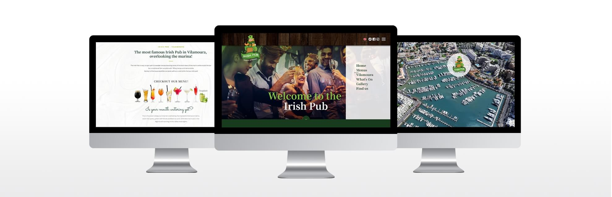 webdesign Irish cabin Pub