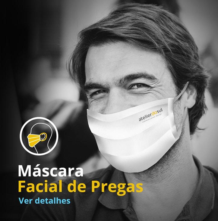 máscara facial de pregas