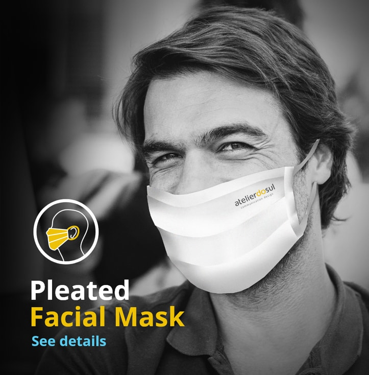 pleated covid 19 facial masks products